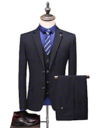cheap -Tuxedos Tailored Fit / Standard Fit Notch Single Breasted Two-buttons Cotton Blend / Cotton / Polyester Gingham