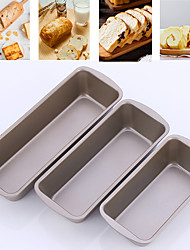 cheap -1Pc Rectangle Toast Loaf Pan Bread Cake Mold Carbon Steel Loaf Pastry Baking Molds