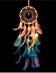 cheap -Dreamcatcher LED Feather Colorful Night Light Handmade Christmas Gift Wind Chime Ornaments Holiday Christmas Wedding Events Decoration Valentine's Day Birthday Romantic Gift
