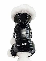 cheap -waterproof pet clothes for dog winter warm dog jacket coat dog hooded jumpsuit snowsuit (s, black)