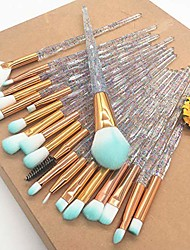 cheap -20pcs crystal diamond makeup brushes plating powder foundation eye shadow brushes brochas para maquillaje cosmetic beauty tool