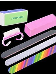 cheap -Nail Designs 2020 6 Pcs Nail Files & Buffers Manicure Pedicure Supplies Nail Cleaning Tools Nail Art Kit Nail DIY Tools for Finger Nail