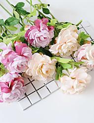 cheap -Artificial Ranunculus Flowers 1 Branch 3 Pieces Flowers Heads Artificial Flowers Home Decor Bridal Bouquet