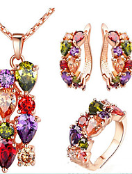 cheap -Women's Bridal Jewelry Sets Chandelier Luxury Earrings Jewelry Rainbow For Party Wedding 1 set