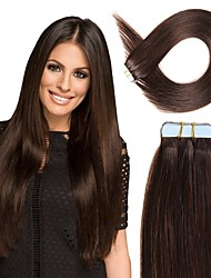 cheap -Tape In Hair Extensions Remy Human Hair 20pcs Pack Straight Hair Extensions
