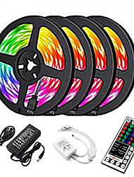 cheap -20m LED Strip Lights 1200 LEDs 2835 SMD RGB Light Strips Cuttable Linkable Suitable for Vehicles 100-240 V Self-adhesive IP44 4x5m