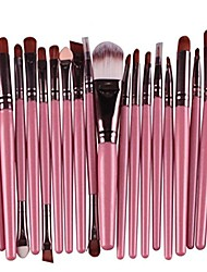 cheap -20 pcs makeup brush set tools make-up wool kit 1pc powder puff & #40;2018 green& #41;