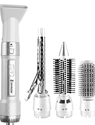 cheap -Hot Air Brush Hair Dryer Brush Upgraded One Step Brush Hair Volumizer Curler Straightener Styler  Electric Blow Combo 4 IN 1 Detachable Brush Kit with Interchangeable Brush