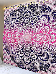 cheap -Indian Mandala Wall Hanging Tapestry Sand Beach Carpet Blanket Tent Travel Mattress Bohemian Sleeping Pads Tapestries