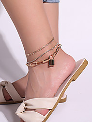 cheap -Leg Chain Classic Bohemian Vintage Women's Body Jewelry For Gift Holiday Link / Chain Alloy Lucky Gold 3pcs