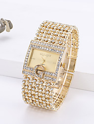 cheap -Women's Quartz Watches Quartz Modern Style Stylish Classic Chronograph Analog Gold Silver / Imitation Diamond / Large Dial