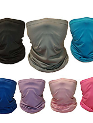 cheap -Neck Gaiter Neck Tube Balaclava Bandana Mask Women's Men's Unisex Headwear Solid Colored UV Sun Protection Dust Proof Cooling for Fitness Running Cycling Autumn / Fall Spring Summer Black Blue Grey