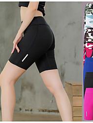 cheap -YUERLIAN Women's High Waist Compression Shorts Running Shorts Running Tight Shorts Sports & Outdoor Shorts Elastane Yoga Fitness Gym Workout Running Jogging Tummy Control Butt Lift Quick Dry Sport