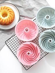 cheap -6 Inch Silicone Spiral Pattern Chiffon Cake Pan and Mold 1 Pc