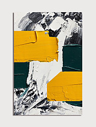 cheap -Oil Painting Paint Handmade Abstract Colors Canvas Art Modern Art with Stretcher Ready to Hang With Stretched Frame