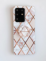 cheap -Case For Samsung Galaxy Note 10 Note 10 Pro Note 10 Plus A10 M10 A20 A30 A50 A30S A50S with Stand Plating Pattern Back Cover Marble TPU