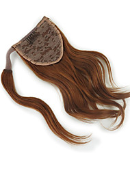 cheap -Drawstring Hair Tie Women / Extention Human Hair Hair Piece Hair Extension Wavy 12 inch Day Clutches / Date / Vacation