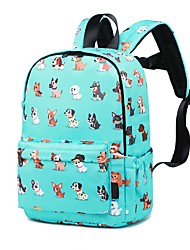 cheap -Large Capacity School Bag Unisex Polyester Pattern / Print Zipper Animal School Sky Blue