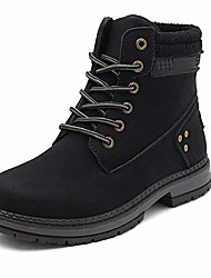 cheap -women warm winter boots fur lined combat boots lace up ankle booties black