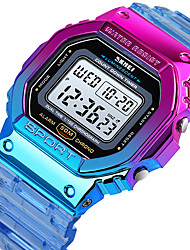 cheap -Women's Digital Watch Digital Modern Style Sporty Outdoor Alarm Digital Blue Purple Orange / One Year / Silicone / Calendar / date / day / Chronograph / Dual Time Zones