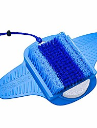 cheap -foot scrubber | foot brush | foot pumice | bristles deep clean & massage | exfoliate & stimulate feet | foot spa brush | free string & body mesh sponge | perfect gift | premium quality