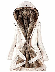cheap -Women's Hoodied Jacket Casual Fall Winter Regular Coat Regular Fit Casual Jacket Long Sleeve Solid Color Pure Color Black Beige
