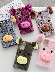 cheap -Case For Samsung Galaxy S6 S6edge S7 S7edge S8 S8Plus S9 S9Plus S10 S10Plus S10E Shockproof Pattern Back Cover Animal TPU Cotton Fabric