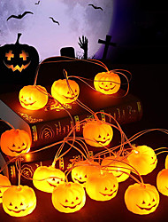 cheap -Halloween String Lights Pumpkin Shaped LED String Lights 1.5M 4.9ft 10LEDs Battery Operation Halloween Carnival Garden Party Decoration Light
