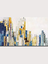 cheap -Oil Painting Hand Painted Horizontal Abstract Abstract Landscape Modern Rolled Canvas (No Frame)