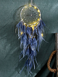 cheap -LED Feather Night Light Handmade Feather Dreamcatcher Wind Chime Ornaments Holiday Christmas Gift Decoration Valentine's Day Birthday Gift