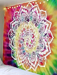 cheap -Lotus Mandala Indian Tapestry Wall Mount Bohemian Beach Towel Thin Polyester Blanket Yoga Shawl Blanket