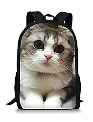 cheap -Large Capacity School Bag Unisex Polyester Pattern / Print Zipper Animal School Black Grey / White / Yellow / Green / Gray