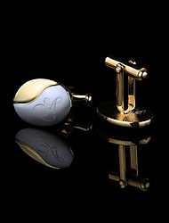cheap -Personalized Customized Men's Cufflink Set Geometrical Geometric 1pc / pack Golden
