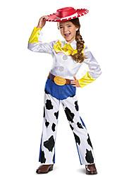 cheap -Jessie Cosplay Costume Outfits Girls' Movie Cosplay Active White Leotard / Onesie Hat Halloween Children's Day Masquerade Polyester