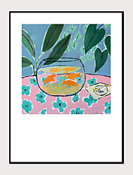 cheap -Framed Art Print Abstract Hand-Painted Still Life Fish Tank Landscape Wall Art Modern Home Decoration Ready To Hang