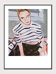 cheap -Framed Art Print Framed Set - People Still Life PS Oil Painting Wall Art