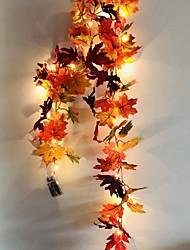 cheap -1.7M 20LEDs Autumn Maple Leaf Rattan LED String Lights 5pcs 2pcs Holiday Party Garden Thanksgiving Harvest Festival Decorative Light without Battery