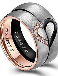 cheap -his & men's for real love heart promise ring stainless steel wedding engagement bands us size 5-13 pair of rings