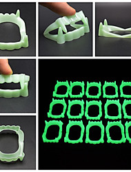 cheap -Halloween Party Toys Vampire Fangs 6 pcs Glow in the Dark Masquerade PE Kid's Adults Trick or Treat Halloween Party Favors Supplies