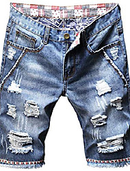 cheap -but& #39;s fashion ripped jeans shorts distressed straight fit denim shorts with holes, 781, us 36 = tag 38