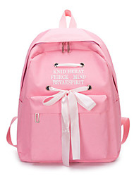 cheap -School Bag Women's Canvas Bow(s) Daily / Outdoor Black / Blushing Pink / Light Grey