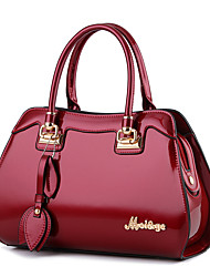 cheap -Women's Bags PU Leather Satchel Top Handle Bag Bow(s) Zipper Handbags Daily Date Wine White Black Blue