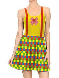 povoljno -Žene Haljina A-kroja Mini haljina - Bez rukávů Print Print Proljeće Ležerne prilike Dnevno 2020 Bijela S M L XL