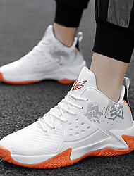 cheap -Men's Basketball Shoes Sporty / Classic / Preppy Athletic Outdoor Running Shoes / Basketball Shoes PU Breathable Warm Non-slipping Black / Red / White / Black Fall / Winter