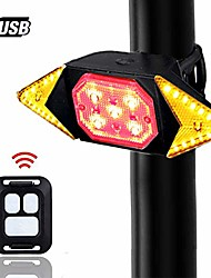 cheap -bike tail light with turn signals wireless remote control red rear light usb rechargeable cycling back light fit mountain road commuting bicycle & #40;bike tail light with turn signals 5