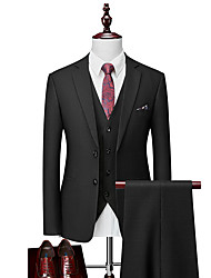cheap -Tuxedos Standard Fit Notch Single Breasted Two-buttons Polyester Solid Colored