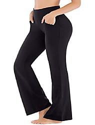 رخيصةأون -السراويل اليوغا bootcut مع جيوب للنساء عالية الخصر البطن تحكم bootleg العمل السراويل السراويل غير انظر من خلال التمرين& # 40 ؛ ew390 أسود ، كبير جدًا& # 41 ؛