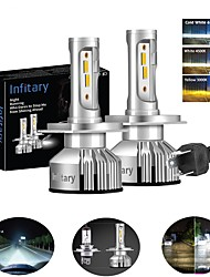 cheap -INFITARY 2pcs H7 / H3 / H11 Car Light Bulbs 48 W 8000 lm 4 LED Headlamps For Volkswagen / Toyota / Honda Mazda6 / Odyssey / Civic All years