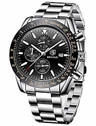 cheap -benyar chronograph wrist watch 30m waterproof classic design scratch resistant 22mm stainless steel quartz movement for men