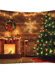 cheap -Christmas Weihnachten Santa Claus Wall Tapestry Art Decor Blanket Curtain Picnic Tablecloth Hanging Home Bedroom Living Room Dorm Decoration Christmas Tree Fireplace Star Light Polyester